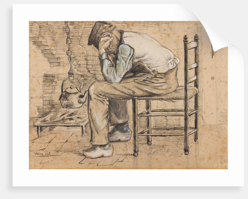 Worn out, 1881 by Anonymous