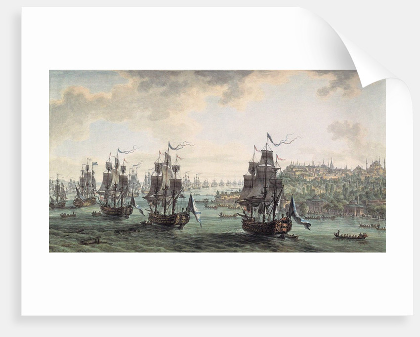 Russian squadron under the command of Ushakov passed the Bosporus, 1799 by Anonymous