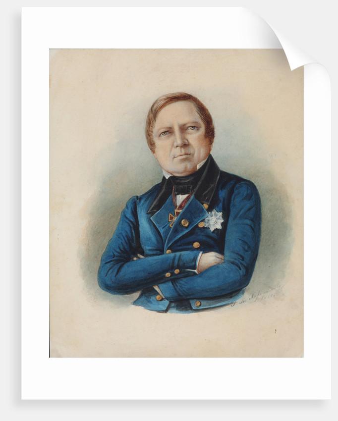 Portrait of the Philosopher Ivan Ivanovich Davydov, 1850 by Anonymous