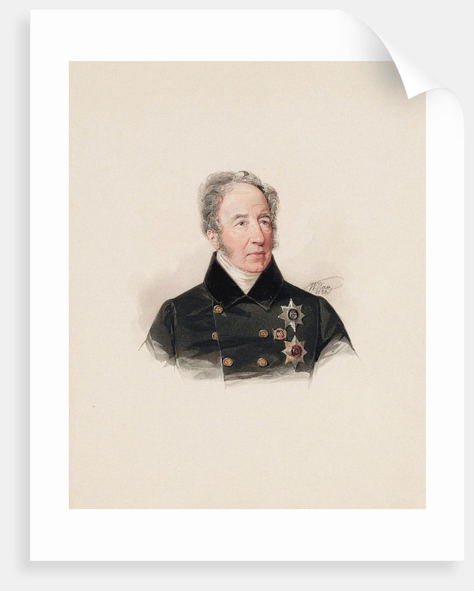Portrait of Prince Mikhail Dmitrievich Tsitsianov, 1838 by Anonymous