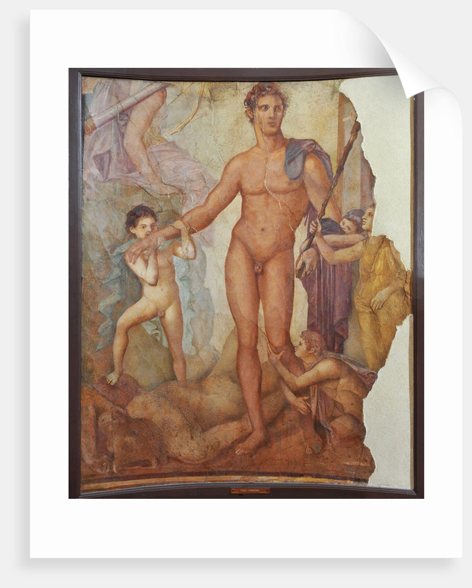 Theseus the Liberator. Ancient Roman fresco from Herculaneum Basilica by Anonymous