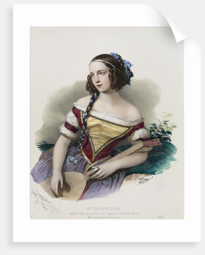 Portrait of the actress Varvara Asenkova by Anonymous