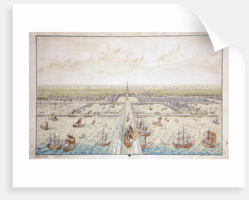 Harbour at Kronshtadt. Draft by Anonymous