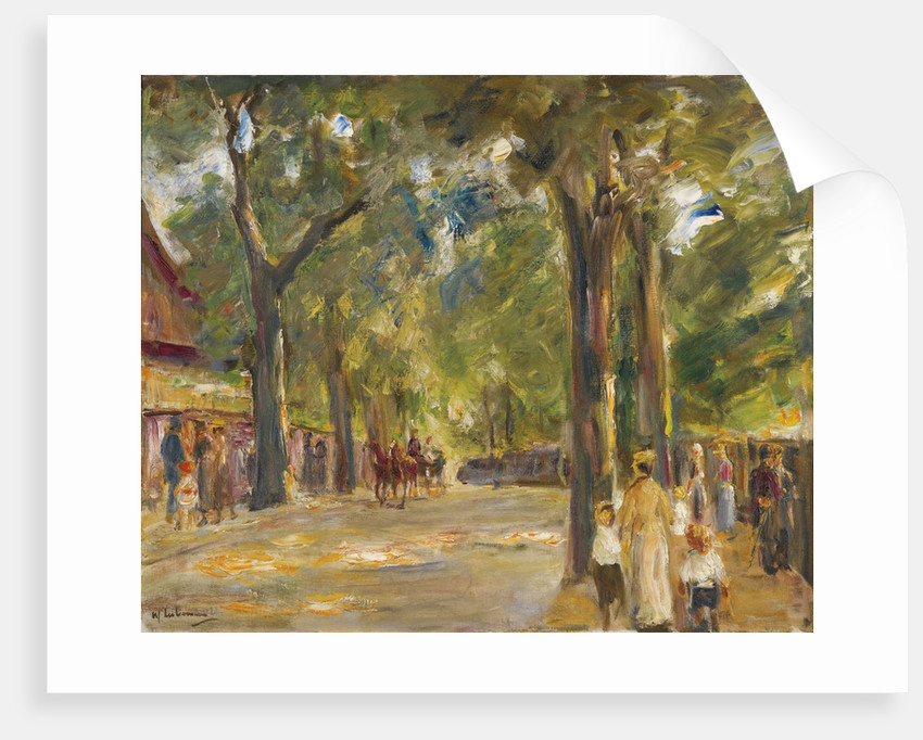Figures on the Grosse Seestrasse in Wannsee by Anonymous