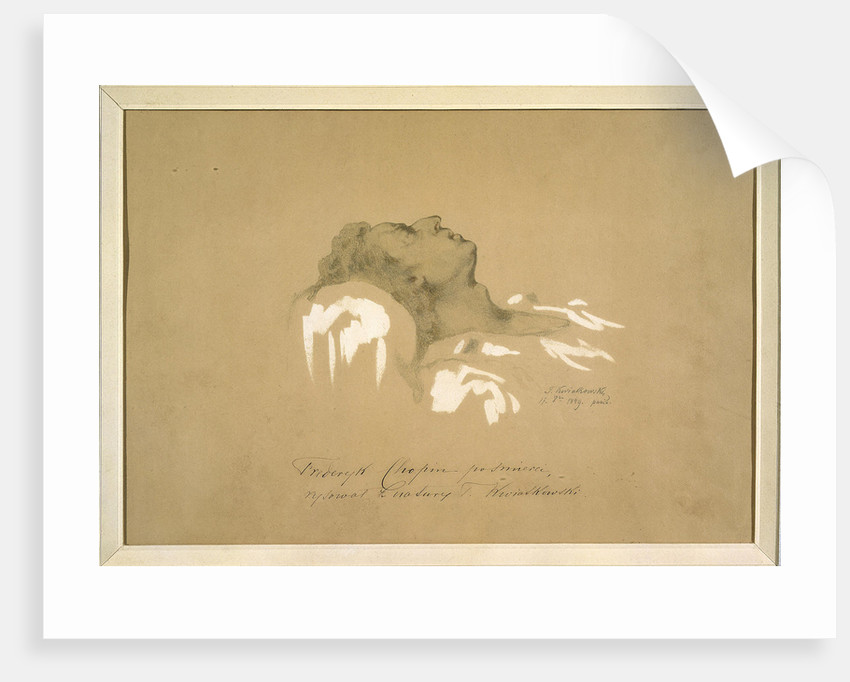 Chopin on His Deathbed by Anonymous