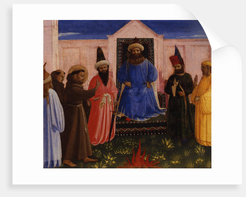 The ordeal of fire of Saint Francis before the Sultan by Anonymous