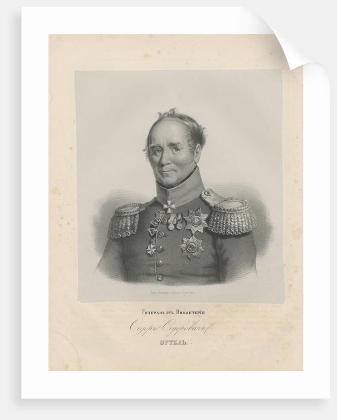 Portrait of General Fyodor Fyodorovich Ertel by Anonymous