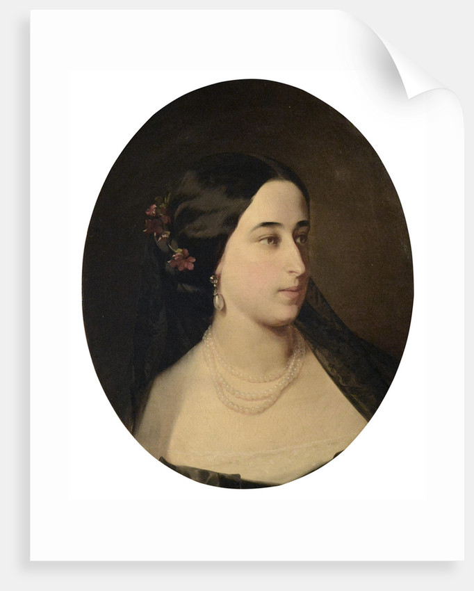 Portrait of Maria Alexandrovna Gartung, née Pushkina by Anonymous