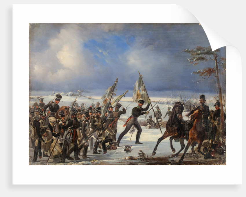 The Battle of Golymin on 26 December 1806 by Anonymous