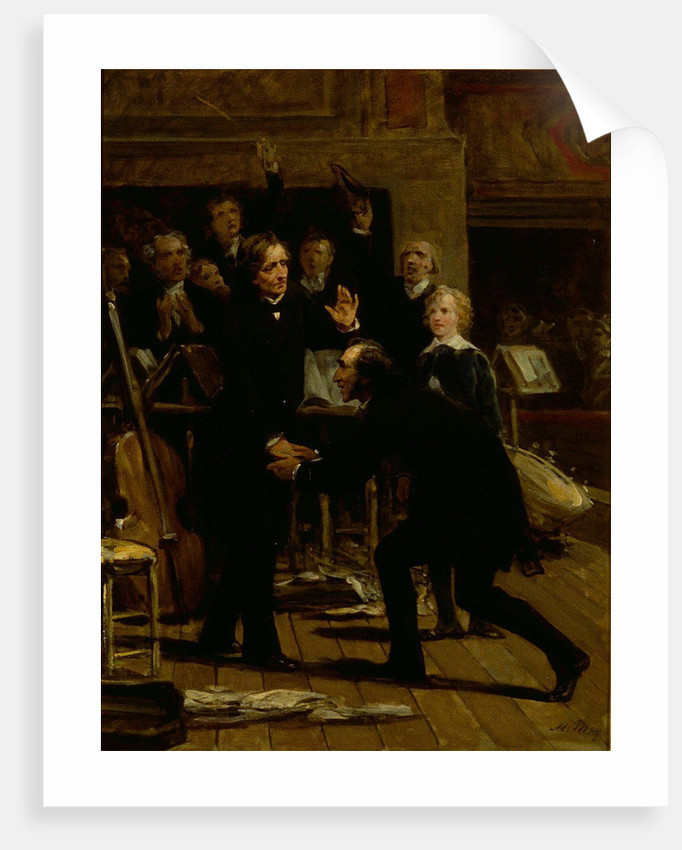 Homage of Paganini to Berlioz at the concert of December 16, 1838 by Anonymous