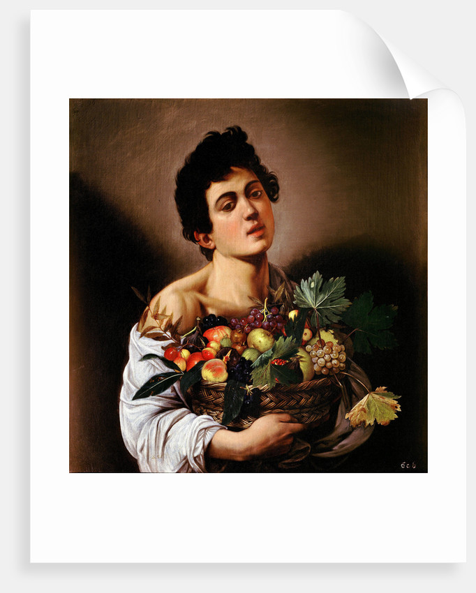 Boy with a Basket of Fruit by Anonymous