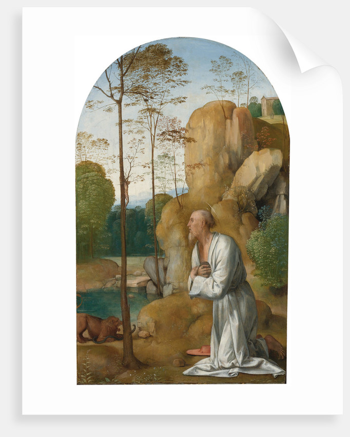 Saint Jerome in the Wilderness by Anonymous