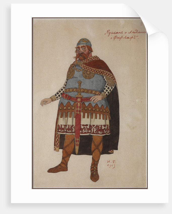 Costume design for the opera Ruslan and Lyudmila by M. Glinka by Anonymous