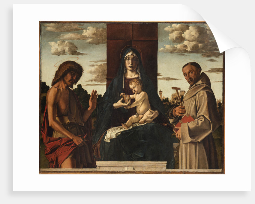 Virgin and Child with Saints Francis and John the Baptist by Anonymous