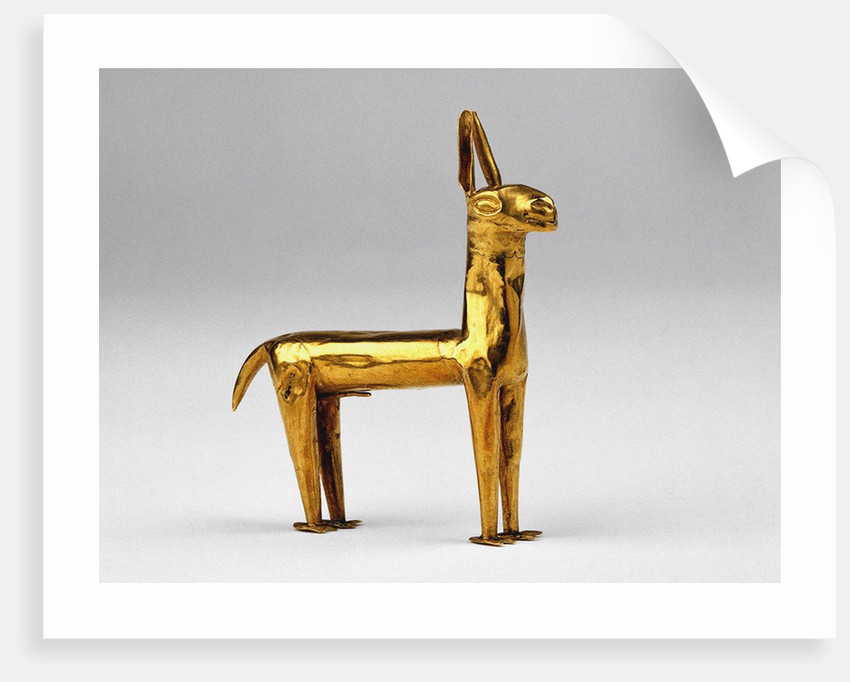 Gold Llama by Anonymous
