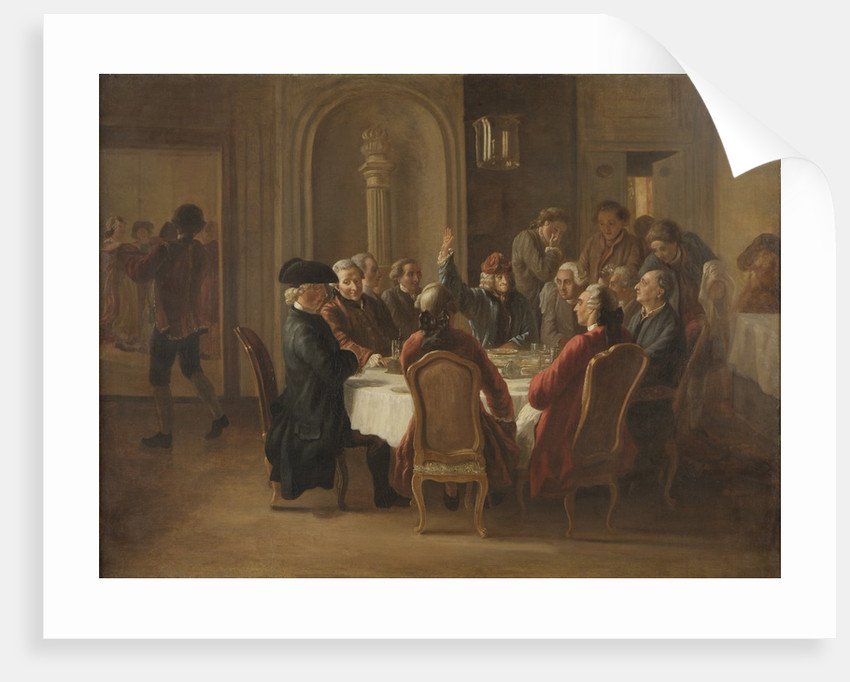 Souper des philosophes (La sainte cène du patriarche) by Anonymous