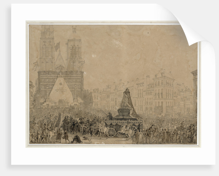 Arrival of the funeral procession with the remains of Louis XVI and Marie-Antoinette in Saint-Denis by Anonymous