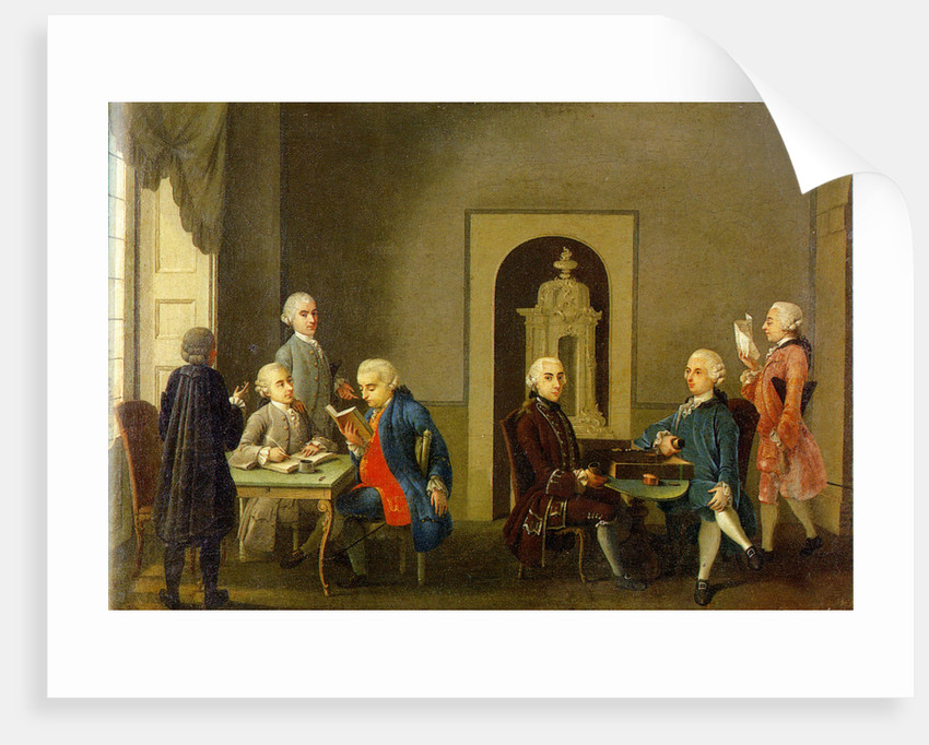 The Meeting of the Accademia dei Pugni (Academy of Fists) by Anonymous