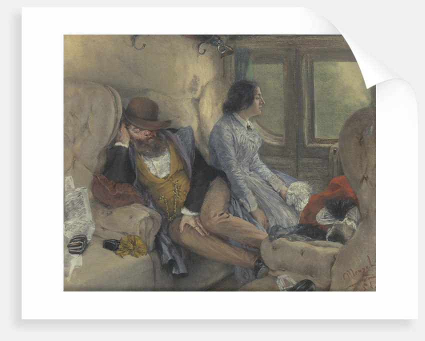 In A Railway Carriage (After A Nights Journey) by Anonymous