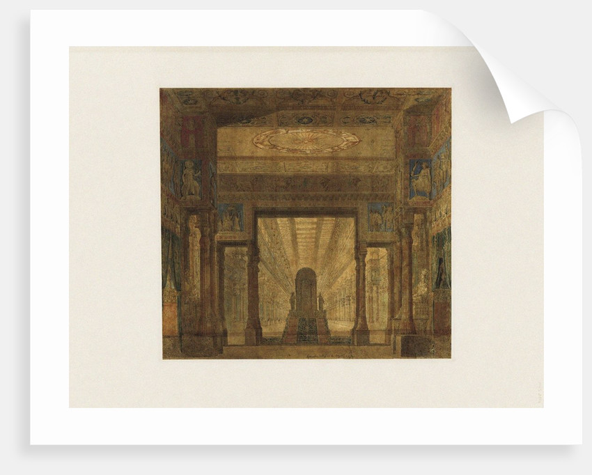 Set design for opera Les Mystères dIsis by Wolfgang Amadeus Mozart by Anonymous