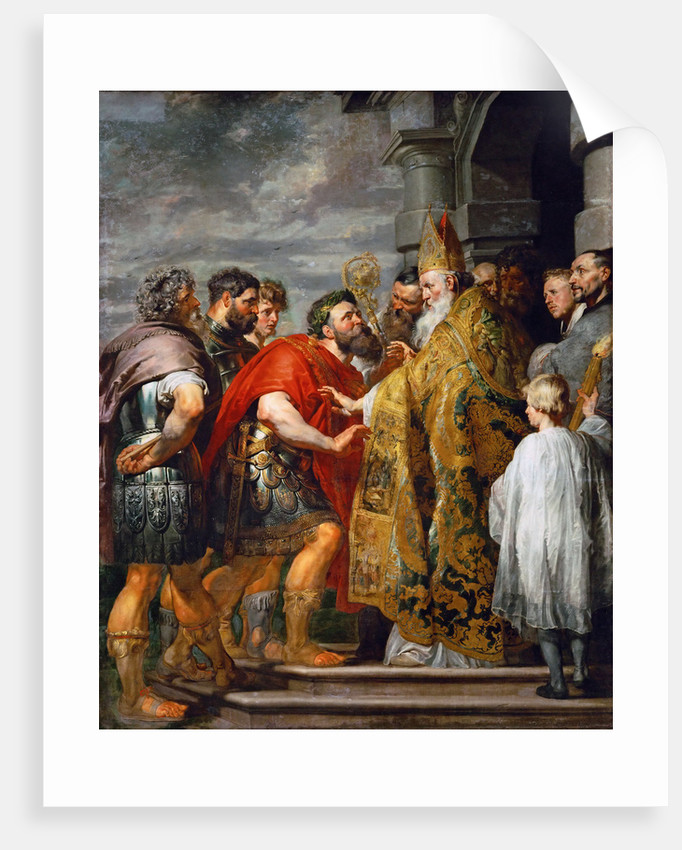 Saint Ambrose and Emperor Theodosius I by Anonymous