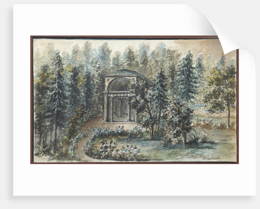 Pavilion in memory of Frederica, sister of Empress Maria Feodorovna, in Pavlovsk by Anonymous