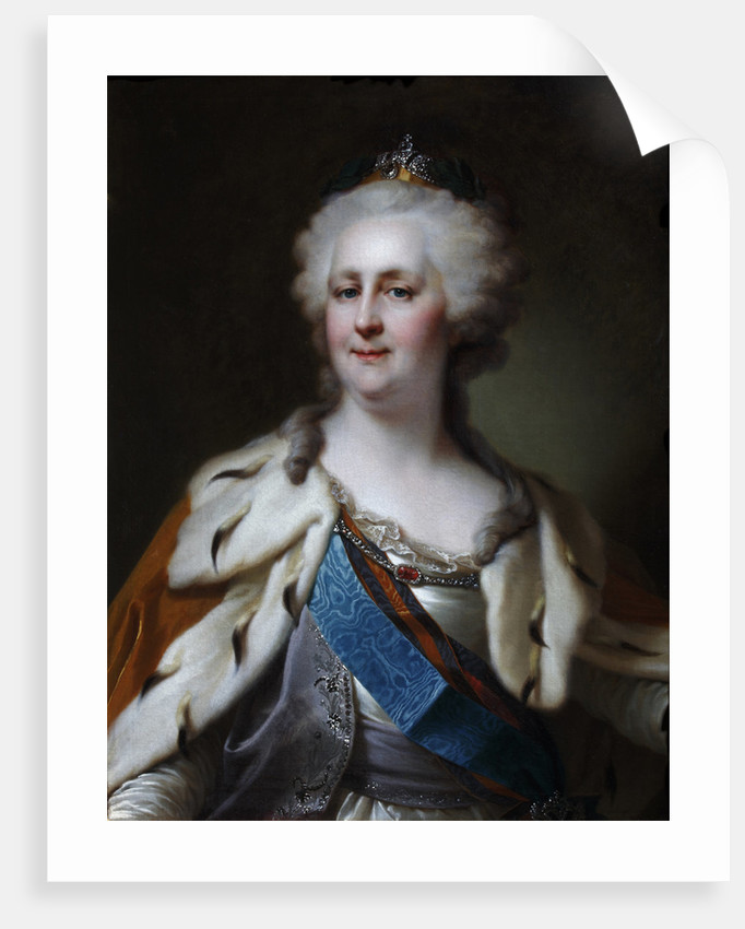 Portrait of Empress Catherine II by Anonymous
