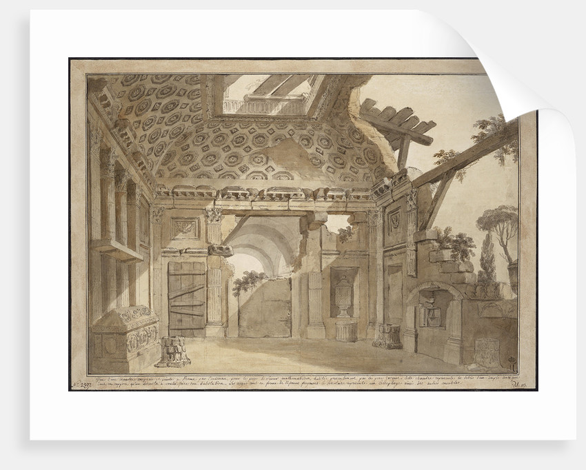Design for the paintings in the cell of Father Lesueur in the Monastery of Santissima Trinità dei Mo by Anonymous