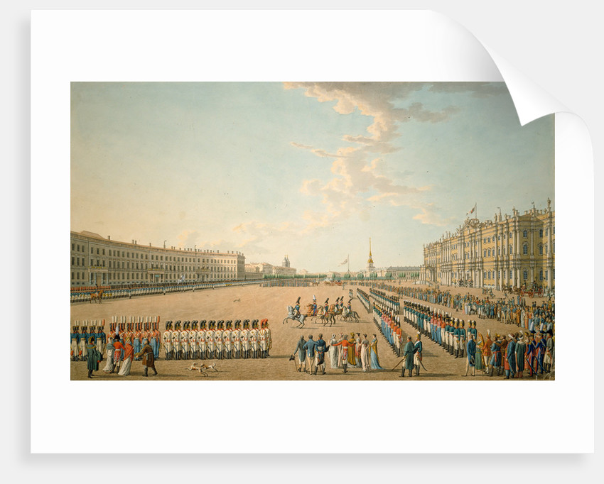Parade at the Palace Square in St. Petersburg, Mid of the 19th cen by Anonymous