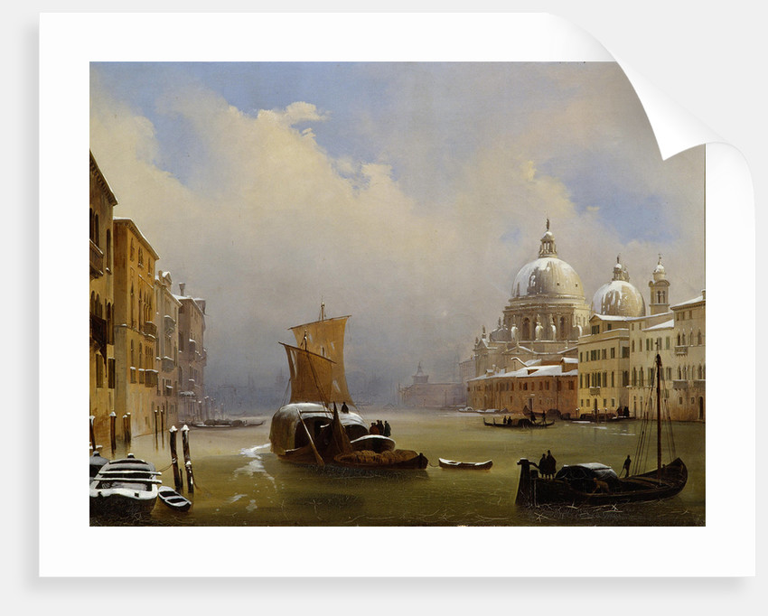 Snow in Venice, 1841 by Anonymous