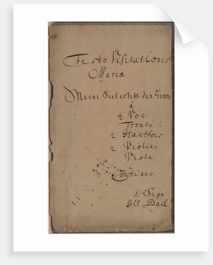 The Cantata Meine Seel erhebt den Herren (My soul magnifies the Lord), BWV 10, c. 1740 by Anonymous