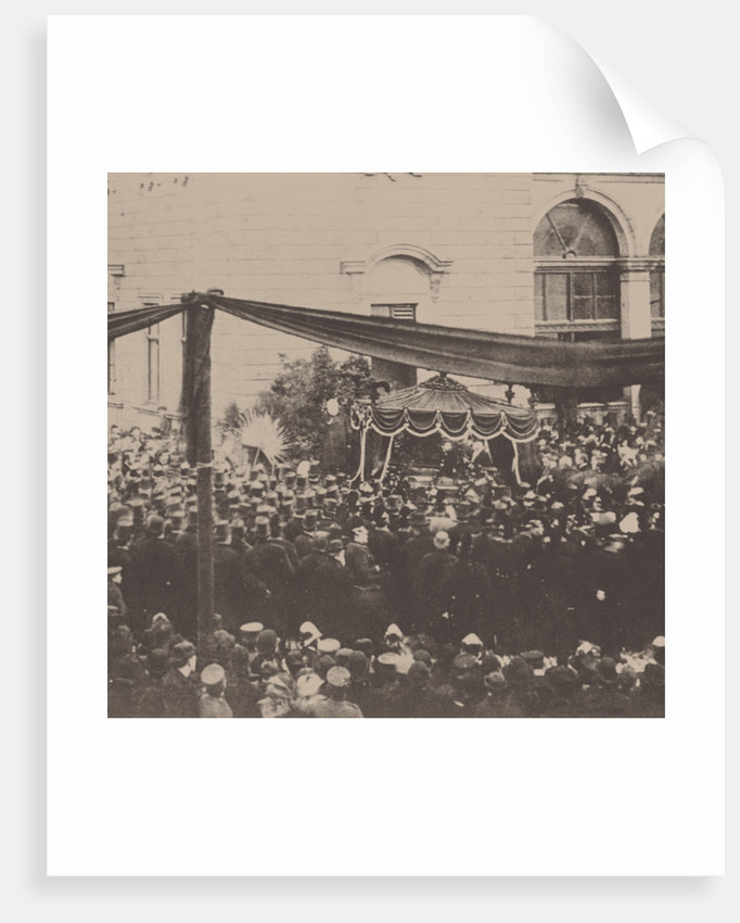 Richard Wagners funeral procession in Bayreuth, 1883, 1883 by Anonymous