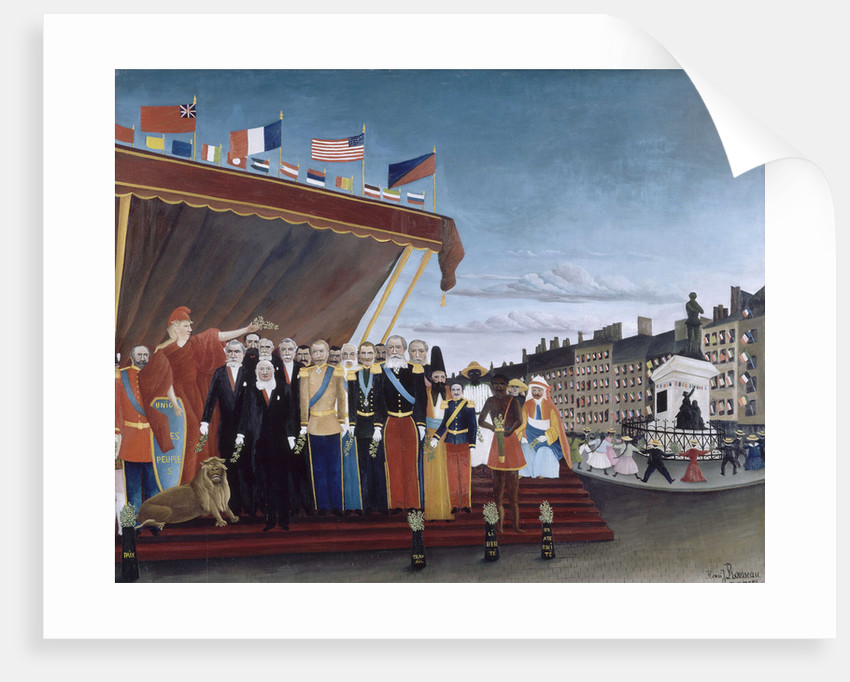 Representatives of Foreign Powers coming to Salute the Republic as a Sign of Peace, 1907 by Anonymous