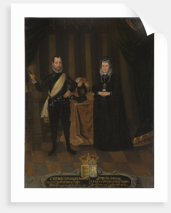 King Frederick II of Denmark and Queen Sophie of Denmark by Anonymous