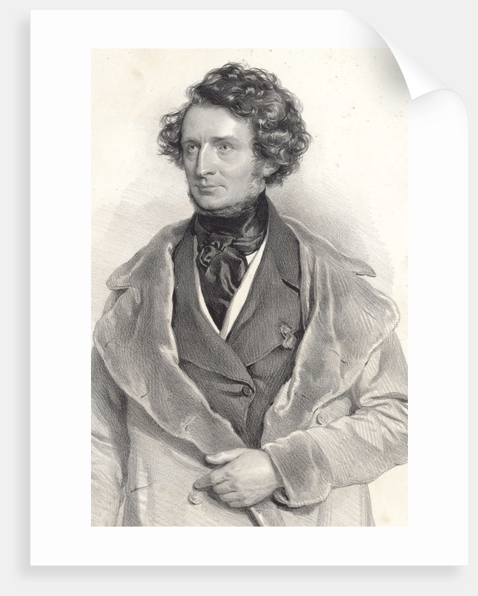 Portrait of Hector Berlioz, 1845 by Anonymous