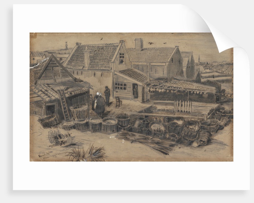 Dab-drying barn in Scheveningen, 1882 by Anonymous