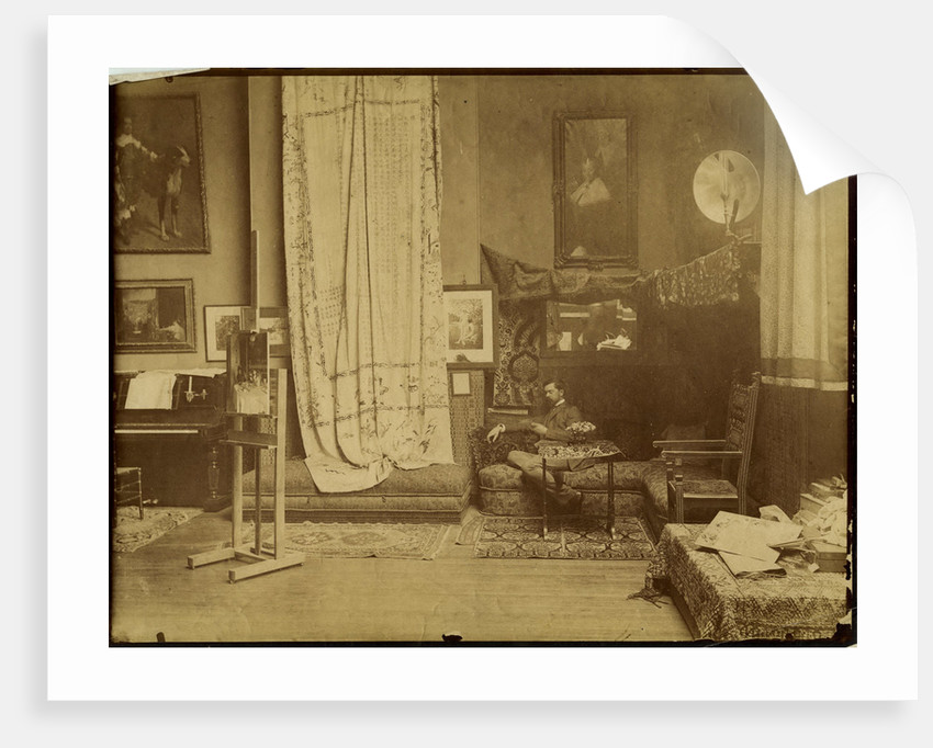 John Singer Sargent in his workshop, c. 1890 by Anonymous