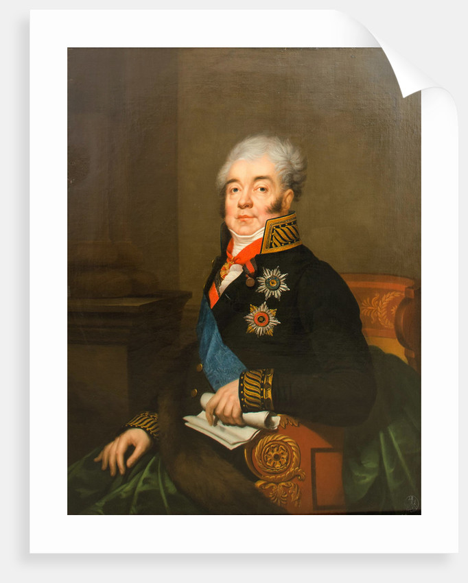 Portrait of Count Dmitry Alexandrovich Guryev, 1809 by Anonymous
