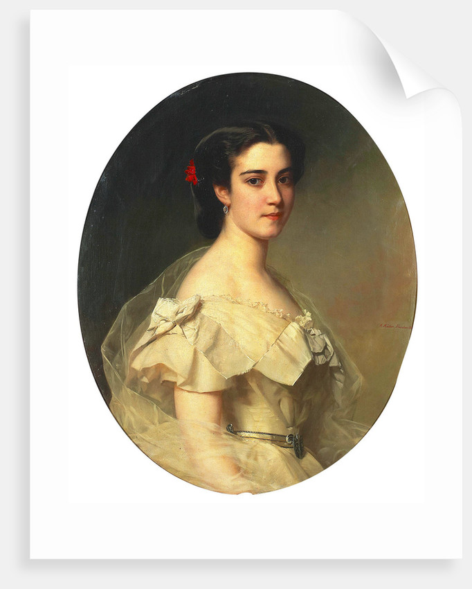 Portrait of Baroness Lina Yxkull-Gyllenband, née von Adelson, 1863 by Anonymous
