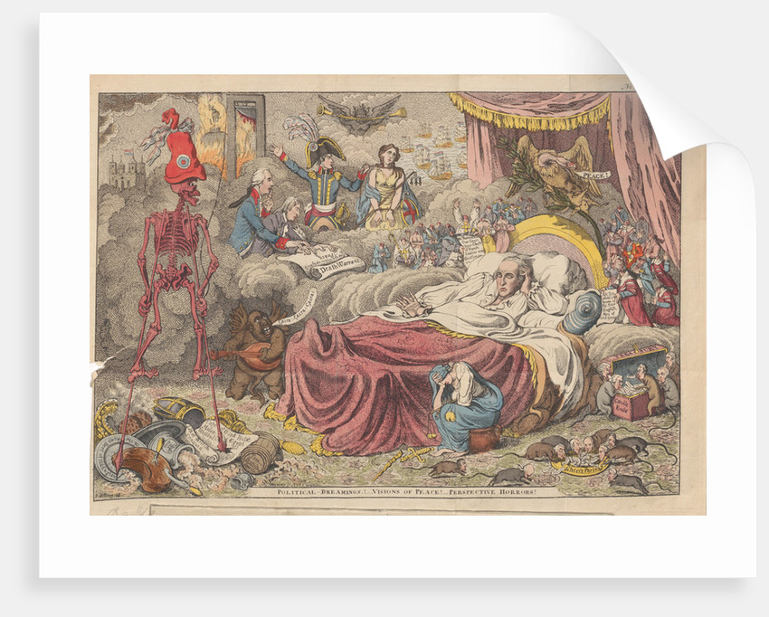 Political dreaming! Visions of peace! Perspective horrors!, 1801 by Anonymous
