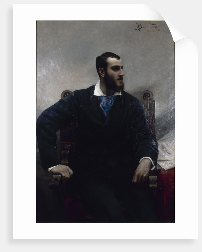 Portrait of the composer André Wormser, 1877 by Anonymous
