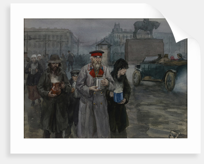 Hungry years in Petrograd. Return from a communal soup kitchen, 1919 by Anonymous