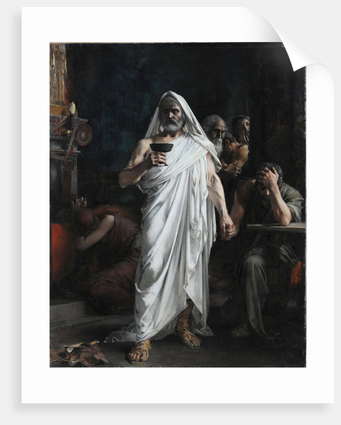 Themistocles takes the bowl of poison, 1887 by Anonymous