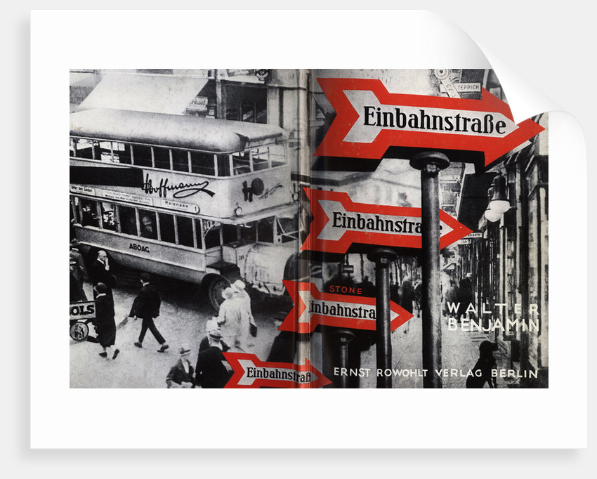 Cover design for Einbahnstraße (One-Way Street) by Walter Benjamin, 1928 by Anonymous