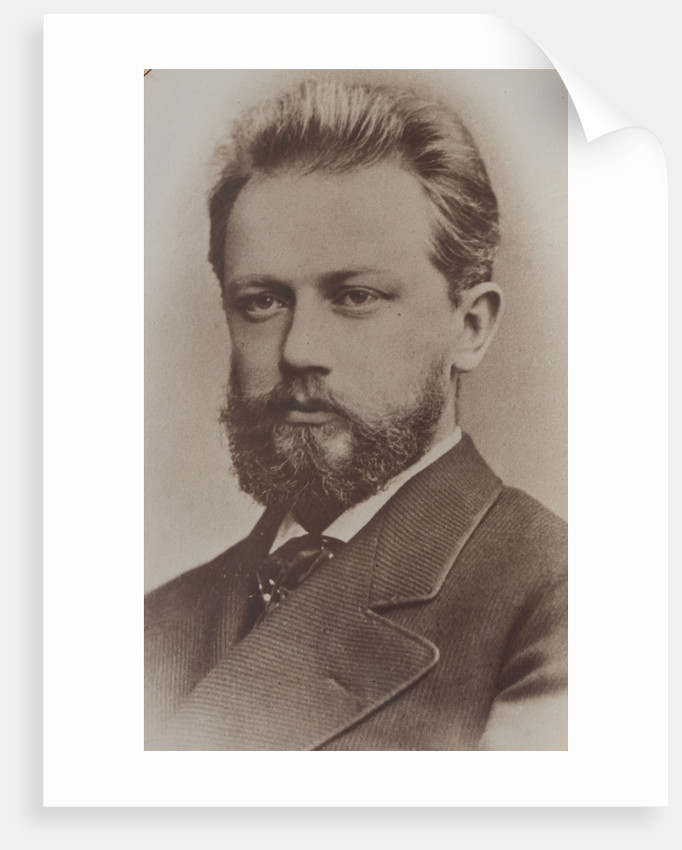 Portrait of the composer Pyotr Ilyich Tchaikovsky, 1874 by Anonymous