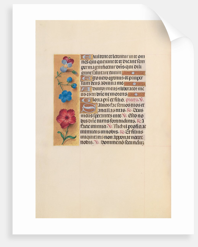 Hours of Queen Isabella the Catholic, Queen of Spain: Fol. 215v, c. 1500 by Master of the First Prayerbook of Maximillian