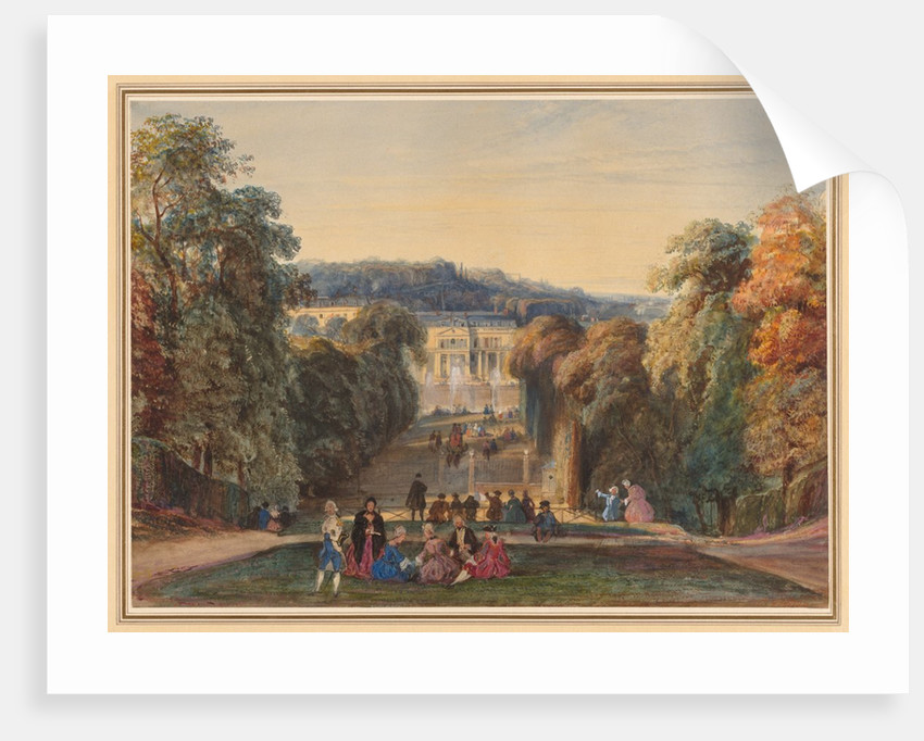 In the Park of Saint Cloud, 1800s by Constant Troyon