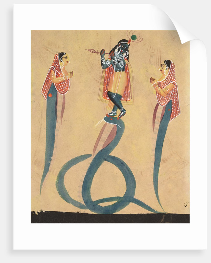 Krishna as Kali Worshipped by Radha, 1800s by Unknown