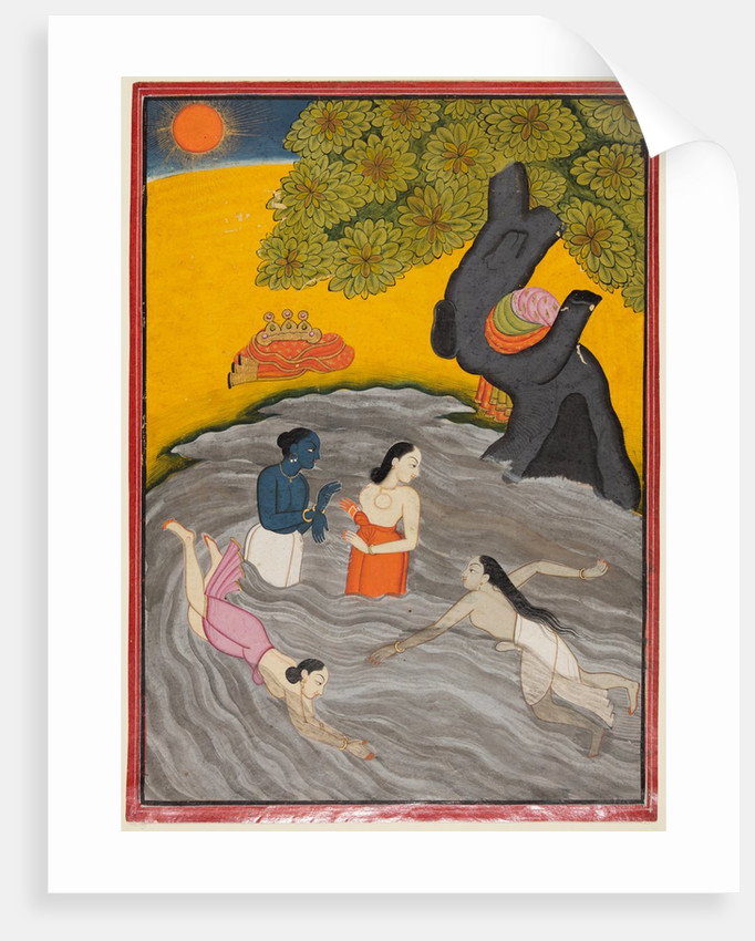 Krishna playing with the Gopis in the Jumna, c. 1770 by Unknown