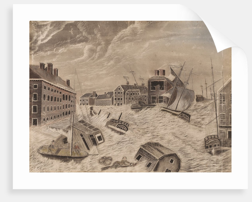 Market Square, Providence, Rhode Island, During the Great September Gale, 1815, 1815 by Unknown